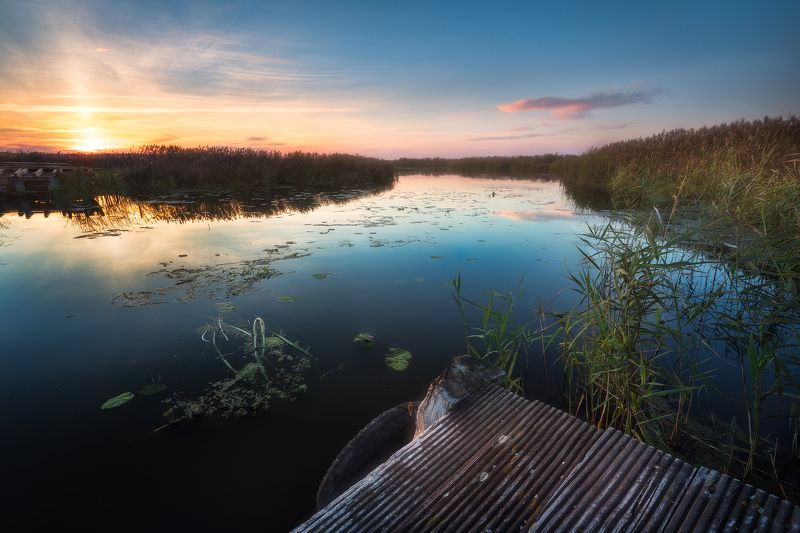 water river narew sky clouds colours clouds sunset poland podlasie mood You may go no further...photo preview