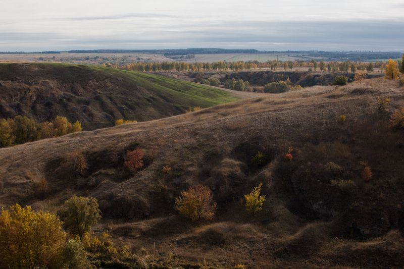россия, природа, октябрь, река, долина речная долинаphoto preview