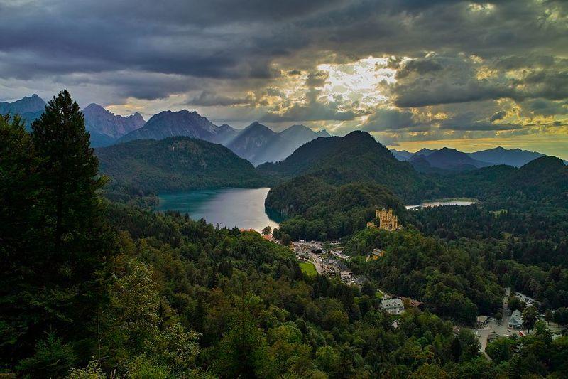 бавария, альпы Лебединое озероphoto preview