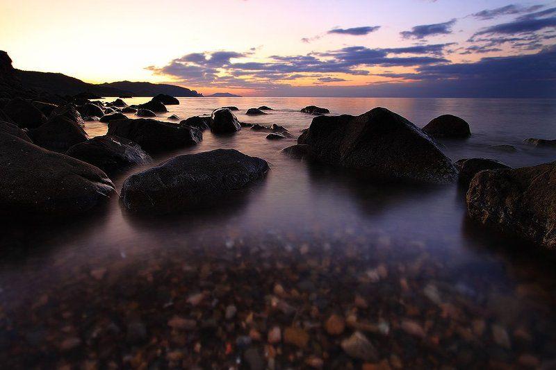 чобан куле, море, крым, морское, судак, новый свет Восход на Чобан Кулеphoto preview