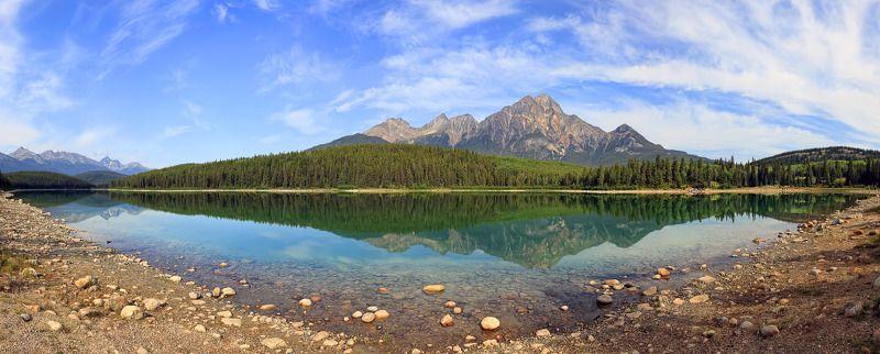 отражения, озеро, парк, банф, канада, джаспер Воды не замутив, навечно отразиться и в памяти остаться...photo preview