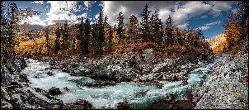 алтай, кумир, река, каньон, осень, скалы Каньон на реке Кумирphoto preview