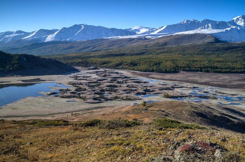 природа  алтай озеро  горы пейзаж путешествие осень ештыкель тени  джангысколь Лунные кратеры урочища Ештыкель.photo preview