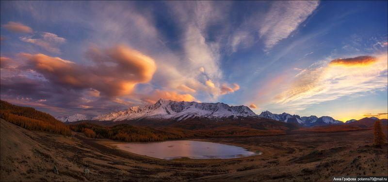 алтай, горы, горный алтай, закат, северо-чуйский хребет, #красиваяосень2018, аня графова Закатная феерияphoto preview