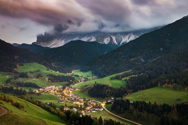 доломиты, закат, италия, санта маддалена Santa Maddalenaphoto preview