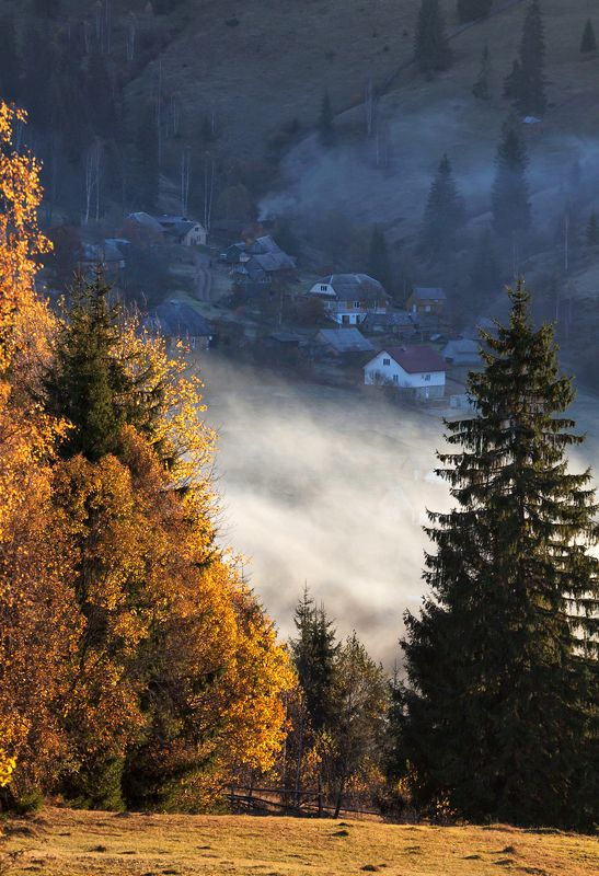 карпаты горы утро туман осень Осеннее равновесие...photo preview