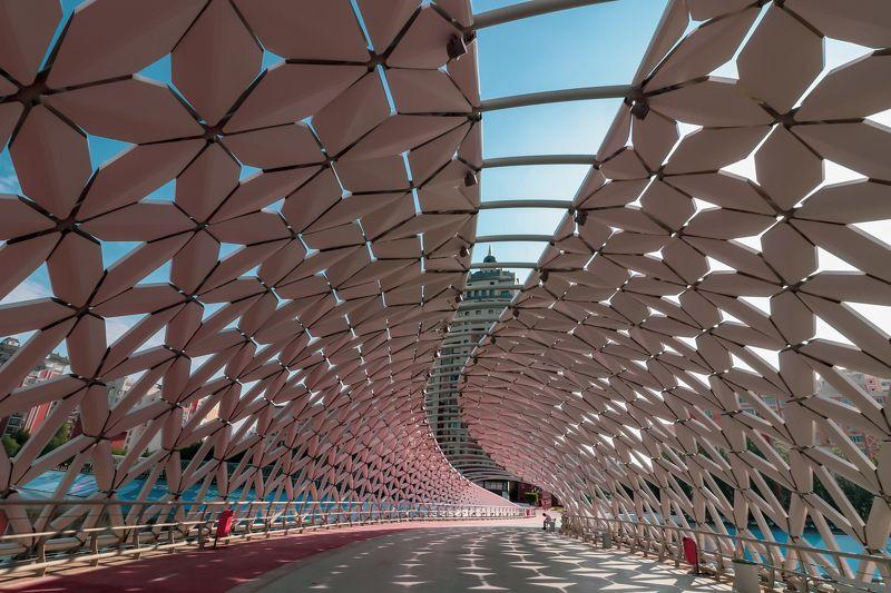 астана, пешеходный мост, мост, городской мотив ***photo preview
