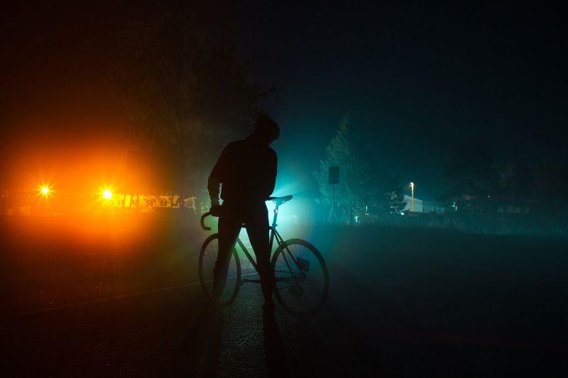 ночь туман россия велосипед Туманphoto preview