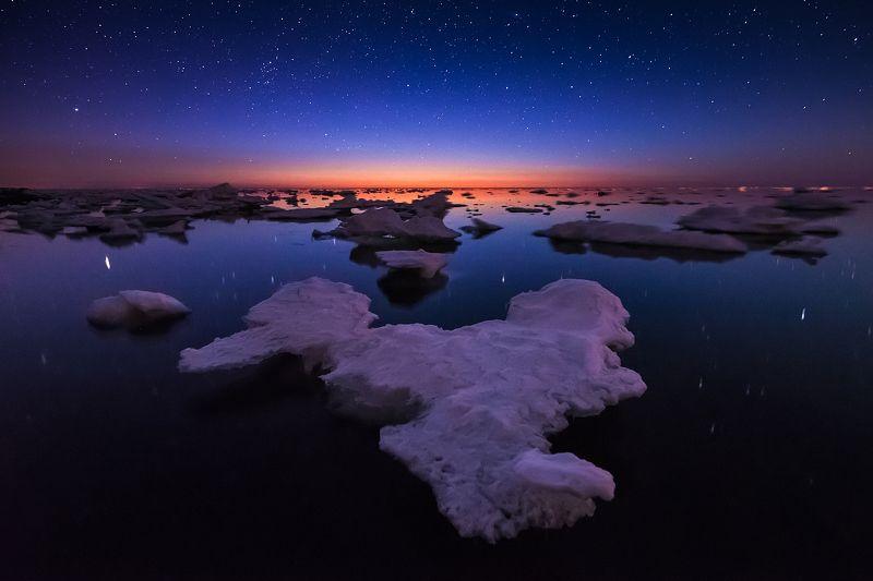 сахалин, море, звезды Звезды и морские льдыphoto preview