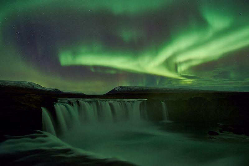 aurora,iceland,night,godafoss Aurora2photo preview