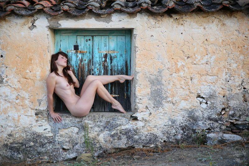 window, wall, Greece, Im Rahmenphoto preview