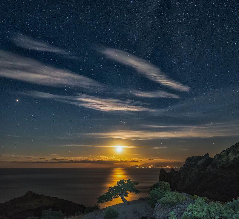 крым, новый свет, ночное фото, ночь, море, черное море, астрофотография, crimea, novyi svit, night photo, night, sea, black sea, astrophotography \
