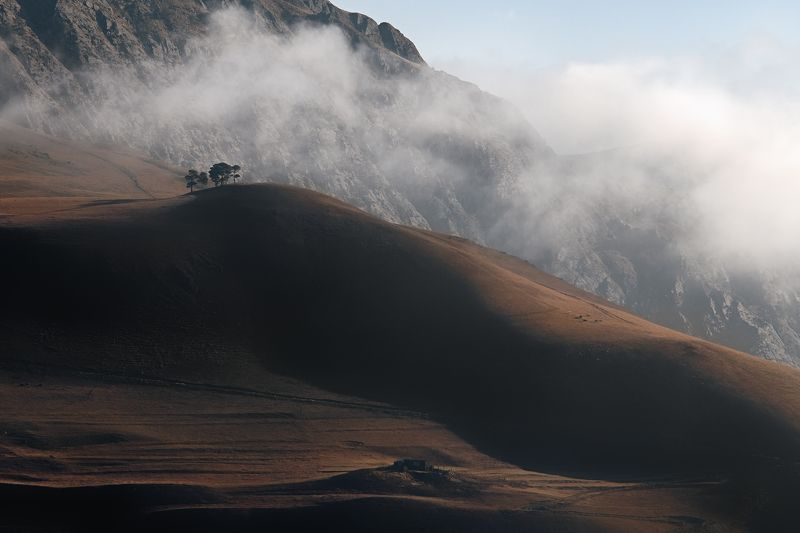 рассвет, утро, дагестан, горы, облака, дерево, холм Гармония утраphoto preview