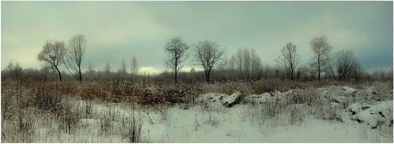 панорама, зима, пейзаж, природа Построение...photo preview