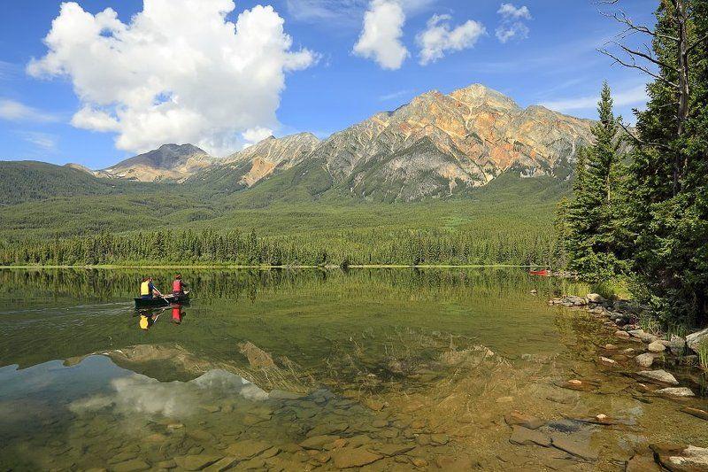 отражения, озеро, парк, , канада, джаспер, альберта Пирамидное...волшебное...photo preview