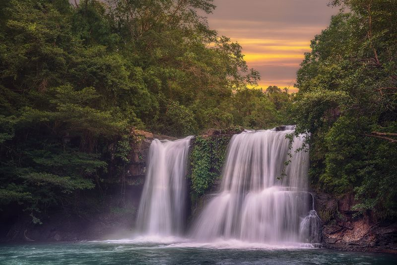 водопад, таиланд, путешествие, закат, ко куд, Водопадphoto preview