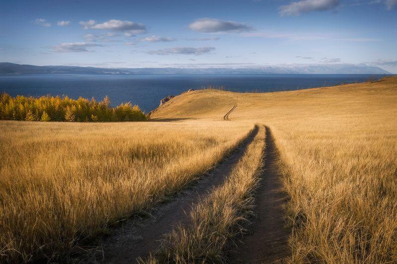 байкал, осень Дорогами острова Ольхон...photo preview