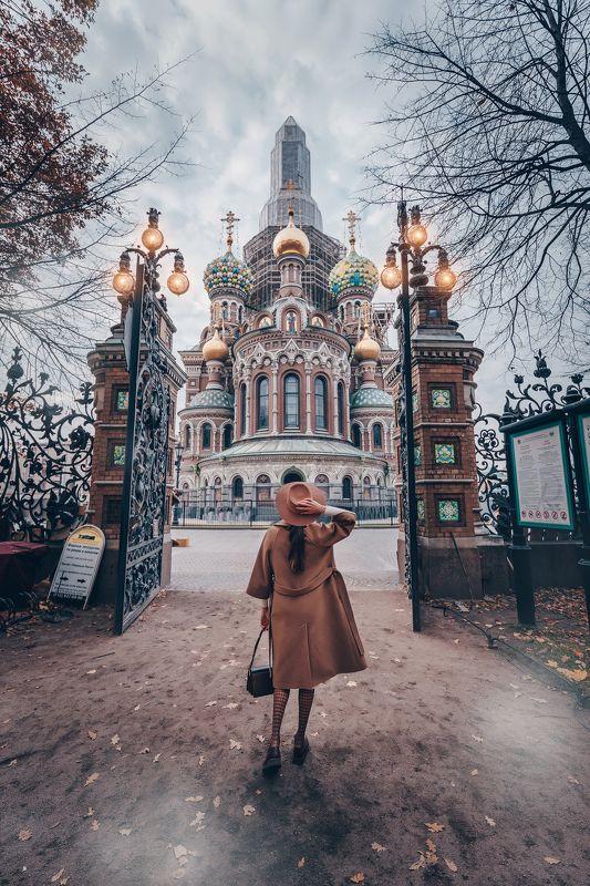 #осень #девушка #город #autumn #city #girl Прогулка по Петербургу.photo preview