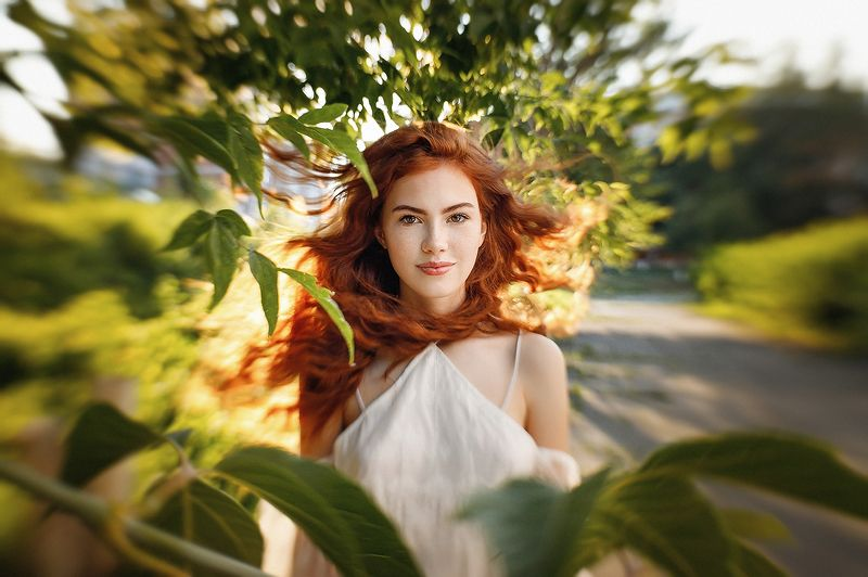 девушка, рыжая, лето Катяphoto preview