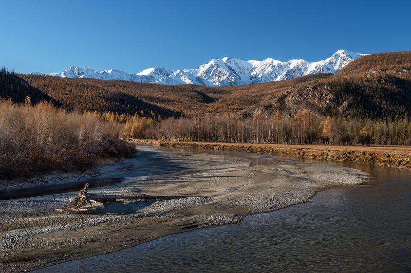 алтай, северо-чуйский, чуя, осень, горы Осеннее утро на Чуеphoto preview