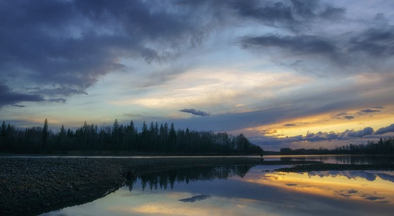осень,вечер,река,облака,закат,силуэт,autumn, evening, river, clouds, sunset, silhouette Неопределенность...photo preview