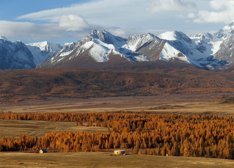 горы, природа, пейзаж, осень, небо, лес, алтай, дом, mountains, portrait, nature, autumn Горы зовутphoto preview