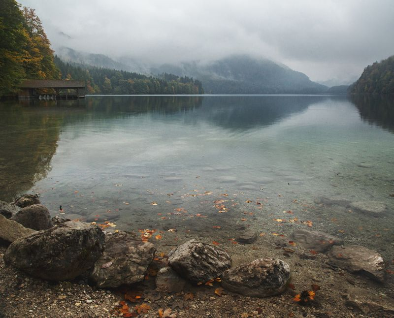 гора; озеро; лес; осень; туризм Звук тишиныphoto preview