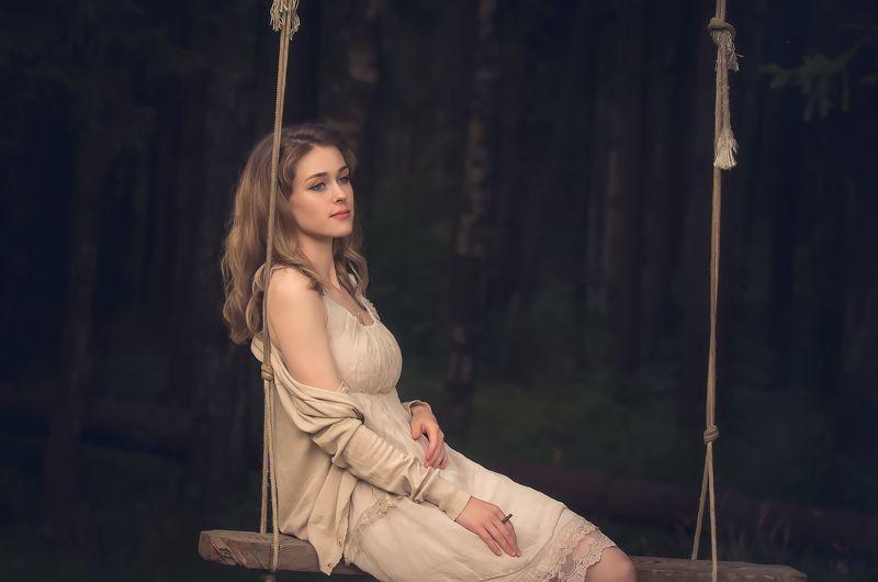 портрет, девушка В мечтахphoto preview