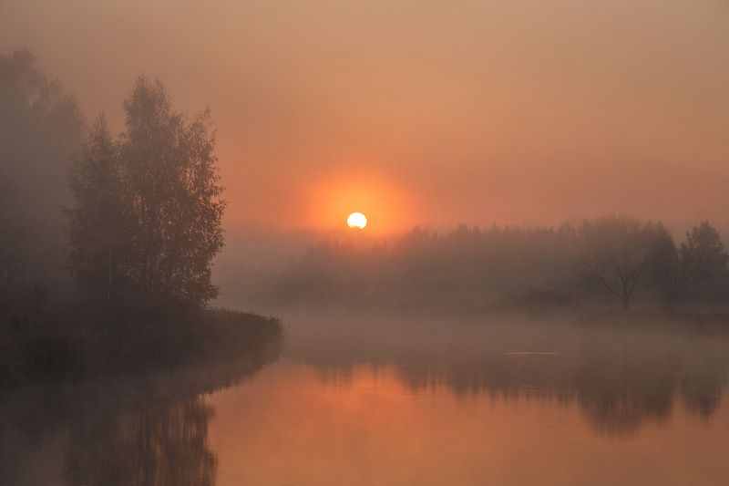 рассвет, утро, туман, осень, октябрь, криница, минск, беларусь Октябрьское утроphoto preview