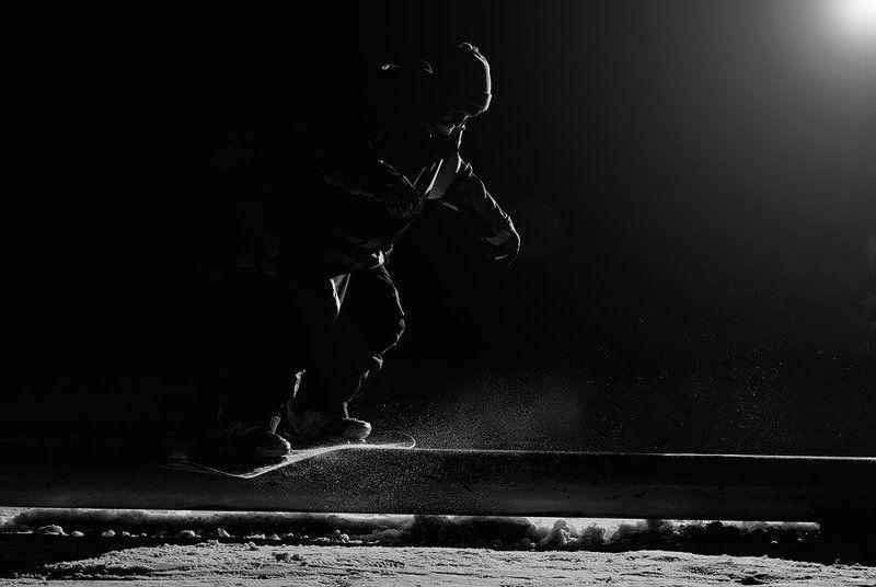 snowboard, extreme, sport, jibbing, спорт, экстрим, сноуборд, стробизм, ночь, джиб photo preview