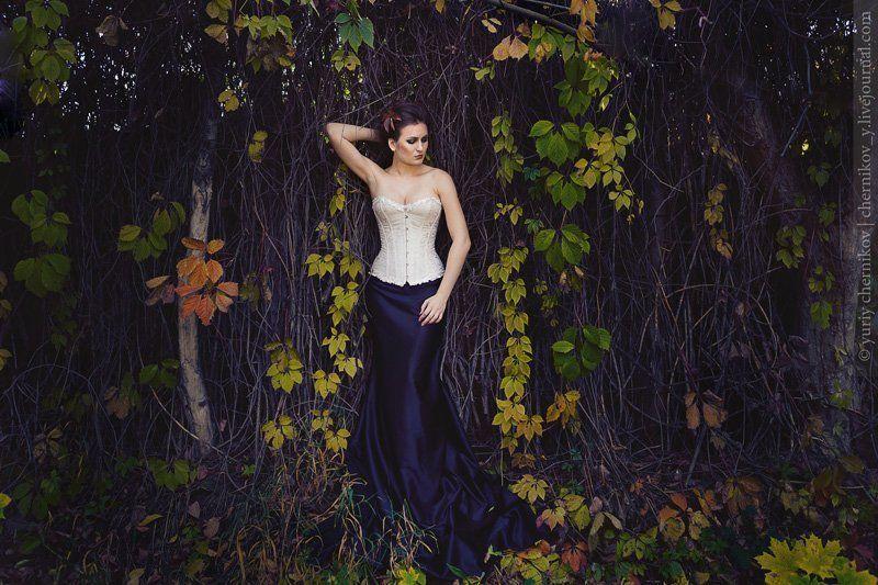 модель, осень, постановка, лес Осеньphoto preview