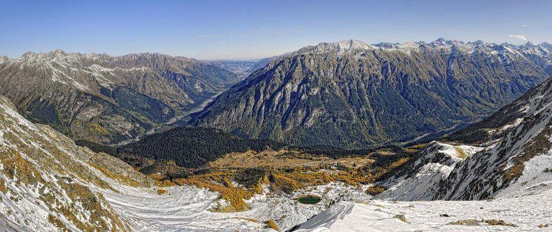 домбай, горы, осень, панорама Домбайская осеньphoto preview