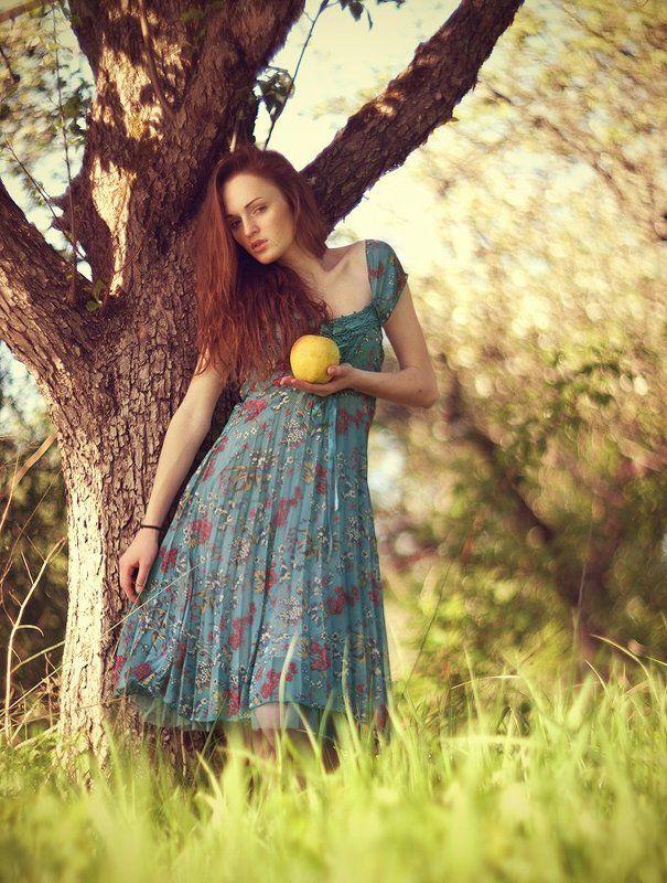 сад, девушка, гелиос 40, гелиос-40, кручение боке, портрет, Аня в садуphoto preview