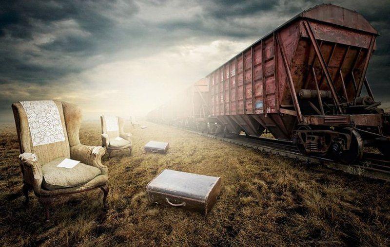 train, voyage, last, nature, field, rail, rusty, light Last Voyagephoto preview