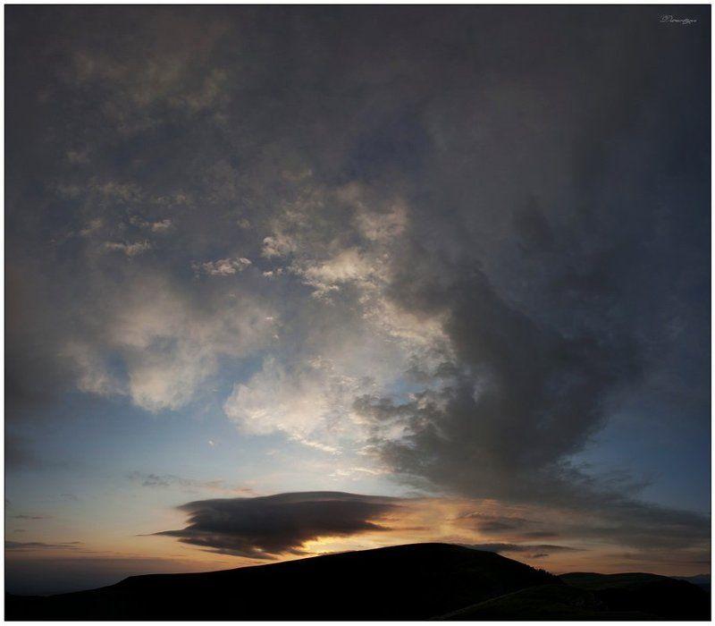 восход, рассвет, пейзаж, гора, матук Восход над горой Матук.photo preview