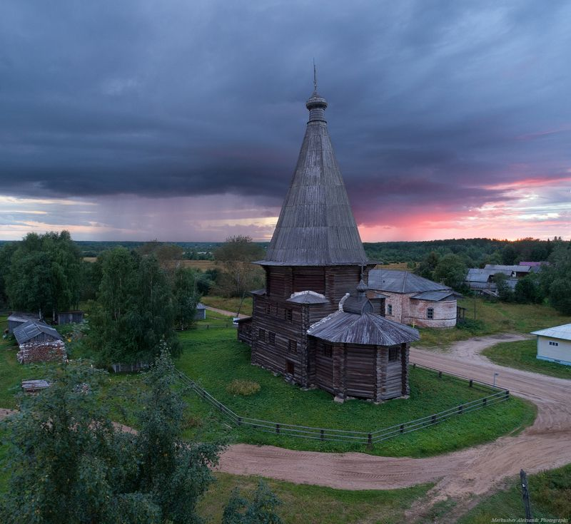 север, архангельск, закат, лето На закатеphoto preview