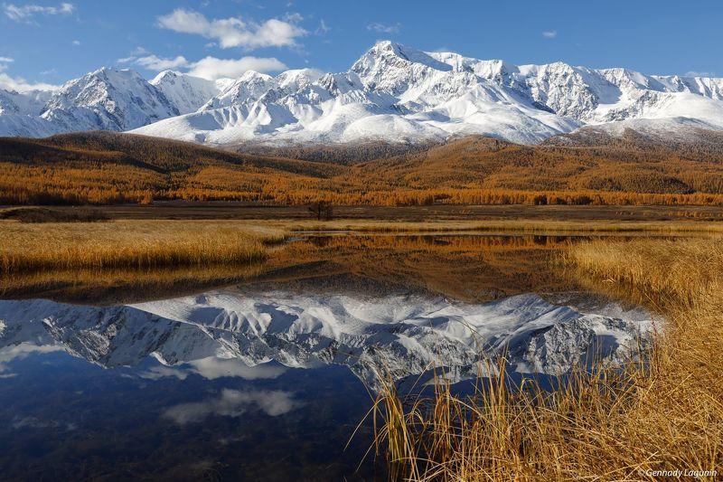 алтай, altai, осень, autumn, горы, mountains, озеро, lake В зеркальном пленуphoto preview