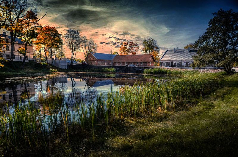 закат , отражения в воде, природа Отражения в водеphoto preview