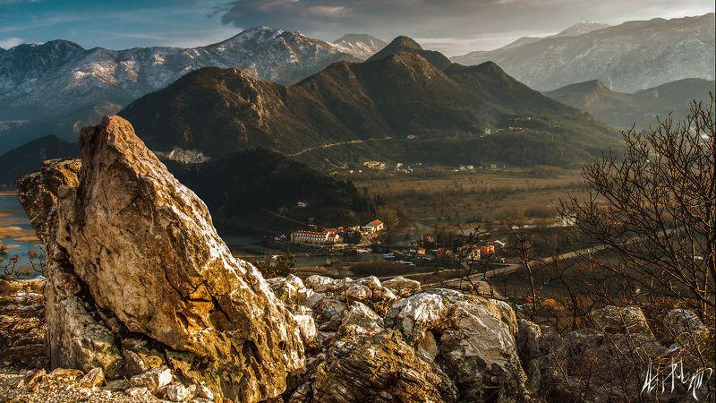 черногория, скадарское, озеро, осень, горы, простор, пейзаж ***photo preview