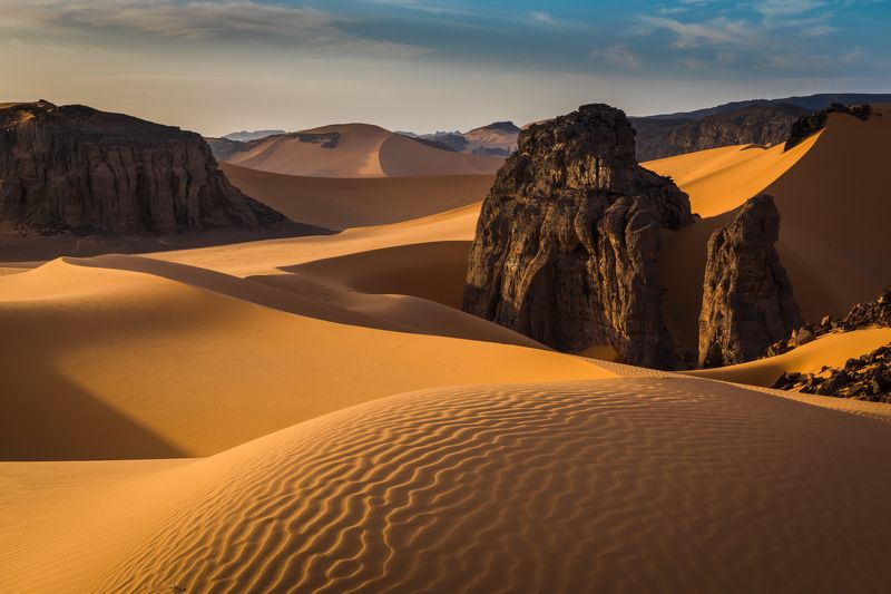 пустыня, сахара, песок, алжир, дюны, тадрарт Тадрартphoto preview