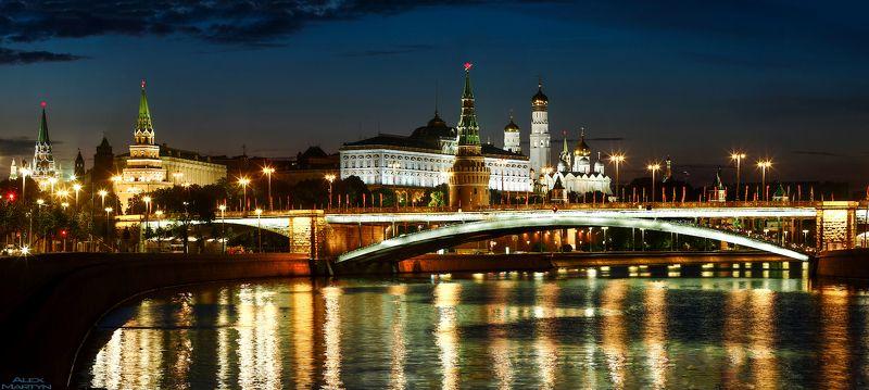 кремль, ночь, москва-река, набережная, город Ночной Кремль.photo preview