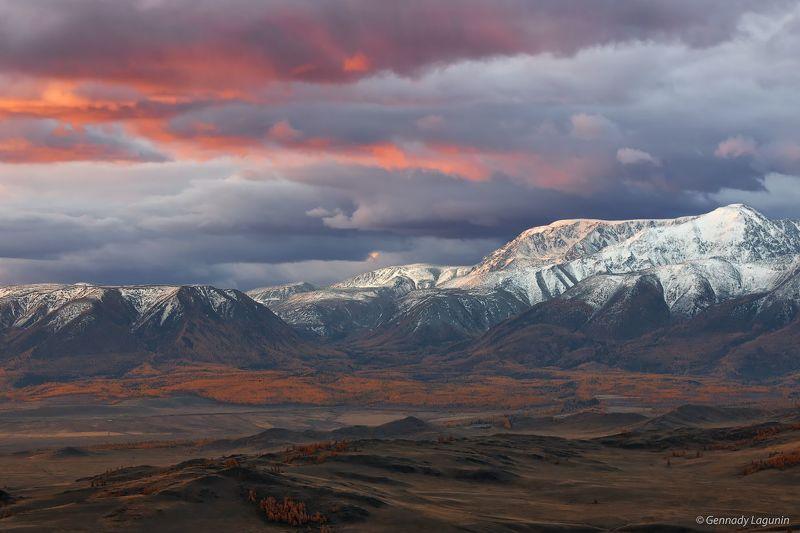 алтай, altai, осень, autumn, горы, mountains Первый свет или рождение нового дняphoto preview