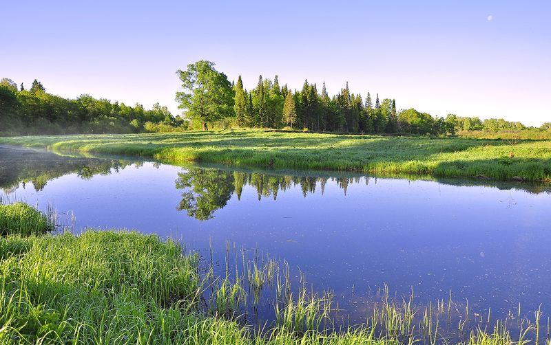 удмуртия,кез,пейзаж,река чепца,май Рассвет на Чепцеphoto preview