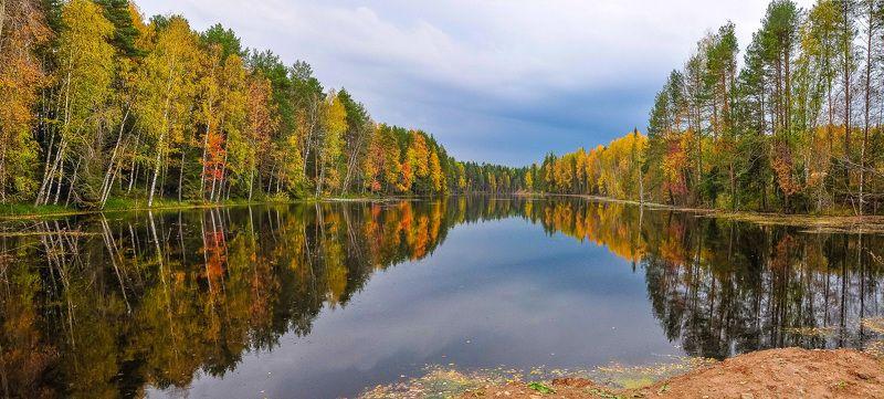 золотая осень,Удмуртия,пруд,отражение В поисках осенней тишины...photo preview