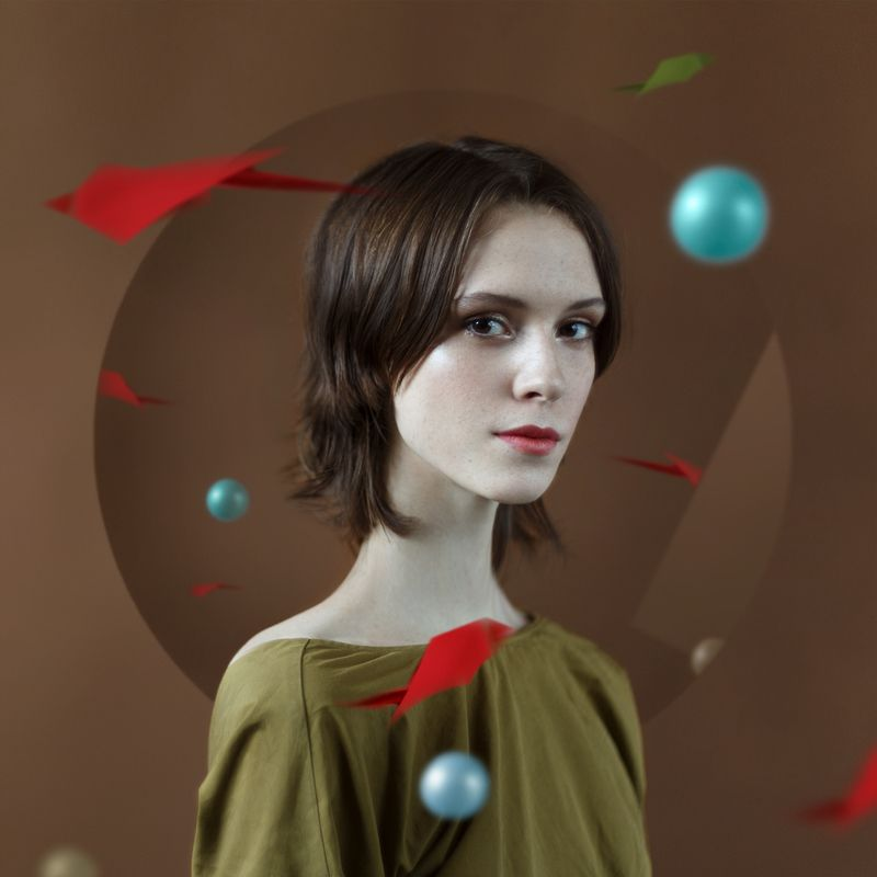 арт, девушка, портрет, студия, свет Linephoto preview