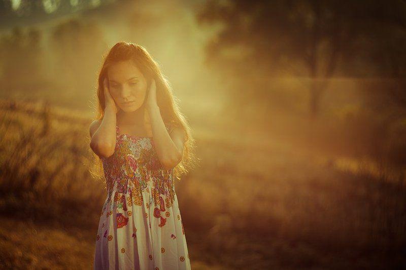 портрет, девушка, рассвет, гелиос 40 ...photo preview