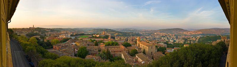панорама, италия, перуджия А из нашего окна, вся Перуджиа видна!photo preview