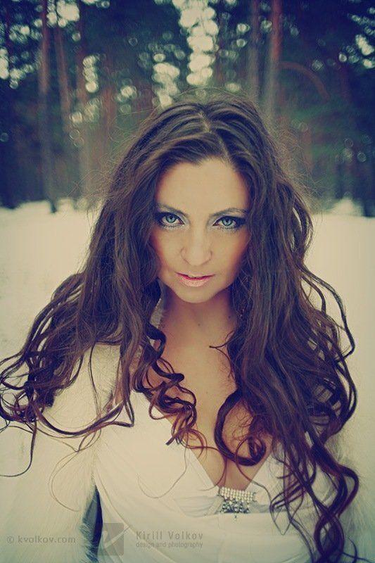 девушка, лес, портрет, снежная, королева, снег Снежная королеваphoto preview