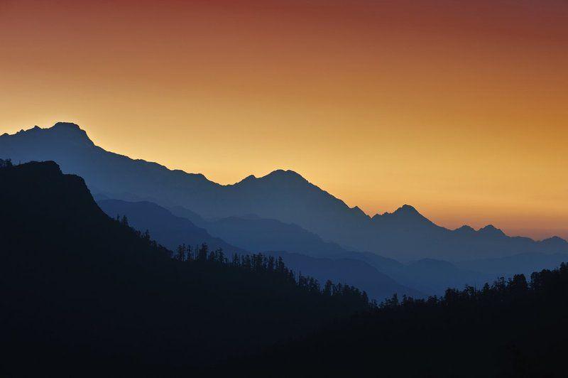 sunrise, nepal, mountains, silhouette Simple sunrisephoto preview