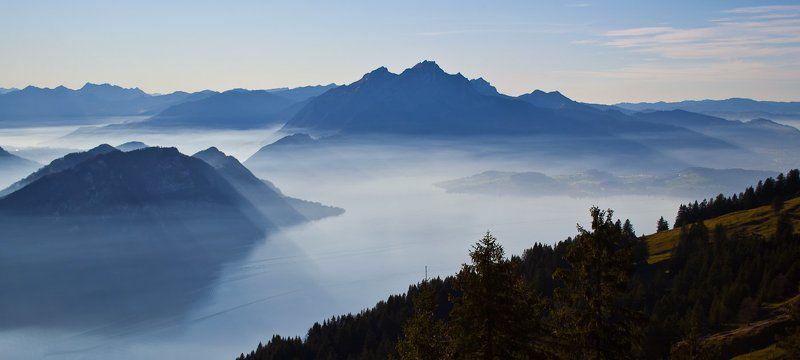 осень, горы, швейцария Rigiphoto preview